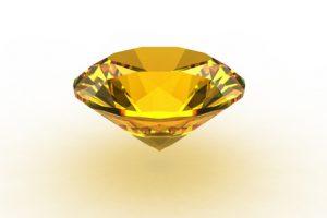 Yellow round topaz gemstone